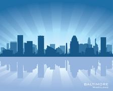 Stock Illustration of baltimore skyline