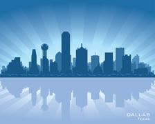 dallas, texas skyline - stock illustration