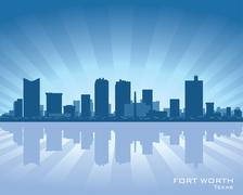 fort worth skyline - stock illustration