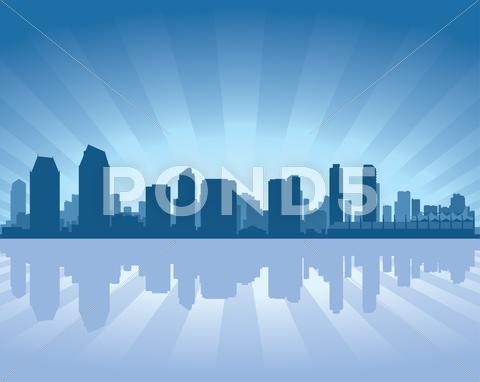 Stock Illustration of san diego skyline