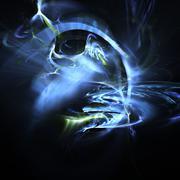 fractal background - stock illustration