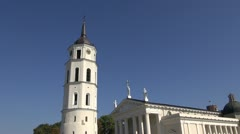 Lithuanian capital Vilnius historical cathedral Stock Footage
