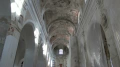 Historical church indoor space Stock Footage