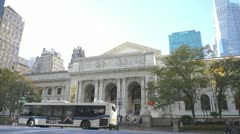 New York City Public Library Stock Footage
