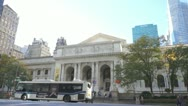 Stock Video Footage of New York City Public Library
