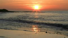 Beautiful Sunset at the Baltic Sea - Northern Germany Stock Footage