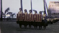 GRASS SKIRTS Hula Dancers Hawaii Sign1965 (Vintage Film 8mm Home Movie) 5298 - stock footage