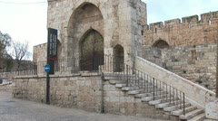 Tower of David in Jerusalem b Stock Footage
