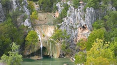 Turner Falls Long Shot  Stock Footage