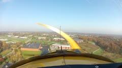 Piper J3 Cub POV landing Stock Footage