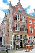 An old building with an antique shop. netherlands, delft Stock Photos