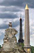place de la concorde. - stock photo