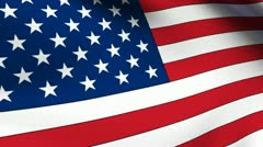 USA Flag Rippling Loop Stock Footage