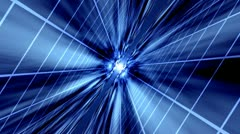 Blue Grid Background - stock footage