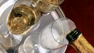 Pouring Champagne Stock Footage