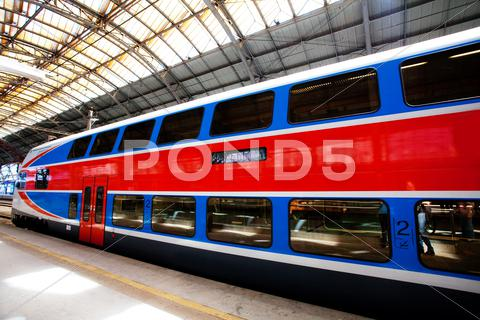 Stock photo of high speed train at a railway station