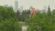Skyline of Nanjing with Zifeng Tower, Nanjing, China Stock Footage