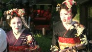 Geishas walking in the Gion district of Kyoto, Japan Stock Footage