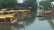 Old town in Nanjing and Qinhuai River, Nanjing, China Stock Footage