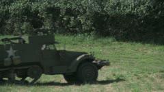 WW2 US Half Track Stock Footage