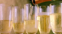 pouring champagne - stock footage