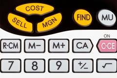cost, sell, margin keys of financial calculator - stock photo