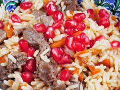 background from asian pilau - stock photo