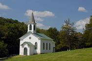 Old fashioned country church Stock Photos