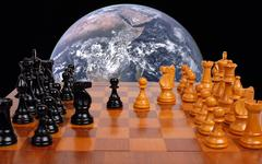 World politics like a chess game Stock Photos