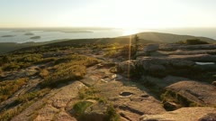 Cadillac Mountain Sunrise Stock Footage