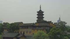 Timelapse The Jiming Temple, Nanjing, China Stock Footage