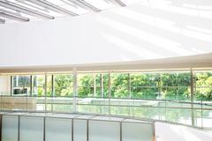 High-tech interior of a modern office building Stock Photos