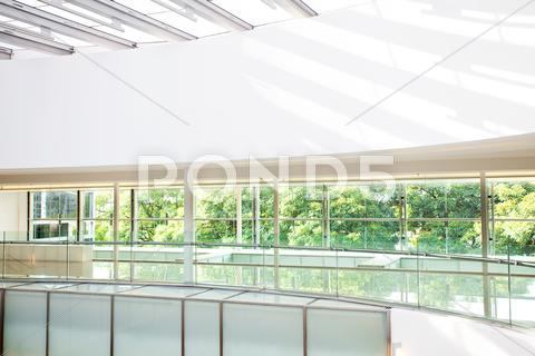 Stock photo of high-tech interior of a modern office building