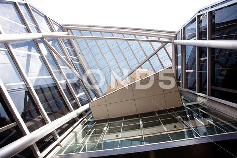 Stock photo of high-tech exterior of a modern office building