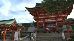 Fushimi Inari-taisha Temple entrance Stock Footage