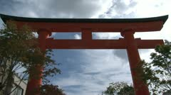 Fushimi Inari-taisha temple entrance tilt Stock Footage