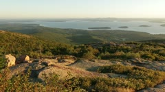 Acadia National Park morning Stock Footage