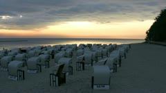 Sellin on Rügen Island - Baltic Sea, Northern Germany Stock Footage