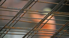 Metal Framework Close-Up - stock footage
