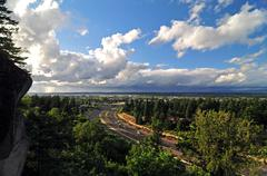 Freeway from Rocky Butte Stock Photos