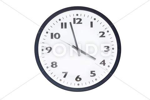 Stock photo of wall clocks isolated on white