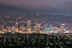 Downtown Portland at Night Kuvituskuvat