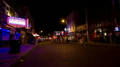 Beale St. Memphis Stock Footage