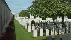 Dud Corner Cemetery on the front line of the great war battlefield near Loos Stock Footage