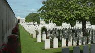 Stock Video Footage of Dud Corner Cemetery on the front line of the great war battlefield near Loos