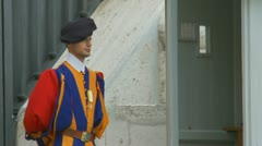 Swiss Guard, St Peters, Rome Stock Footage