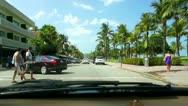 Miami Beach Drive Stock Footage