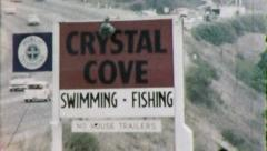 AT THE BEACH CRYSTAL COVE1960s (Vintage Retro Amateur Film Home Movie) 5318 - stock footage