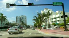 Collins Avenue in Miami Beach Stock Footage