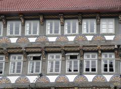 Stock Photo of adorned old house facade